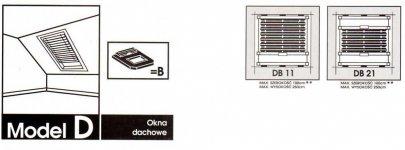 Model D ( okna połaciowe-dachowe)