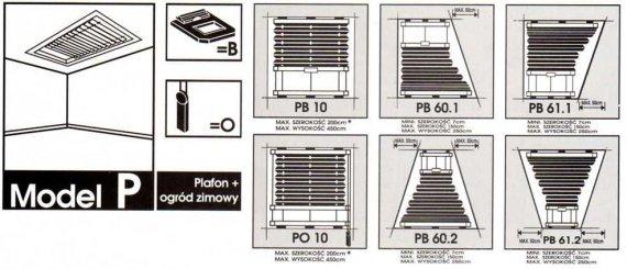 Model P ( plafon-ogród zimowy)